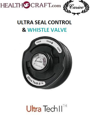 ULTRA-TEMP CONTROL and WHISTLE VENT with Temperature Gauge for Carico Ultra-Tech and Ultra-Tech II waterless cookware