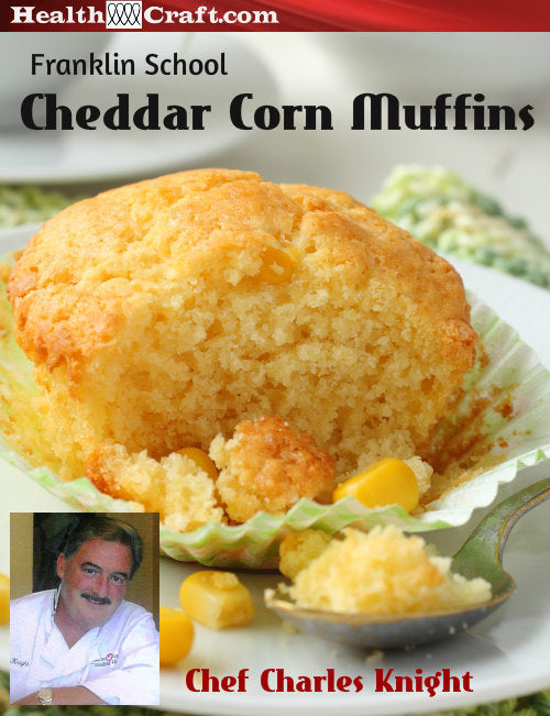 Franklin School Cheddar Corn Muffins