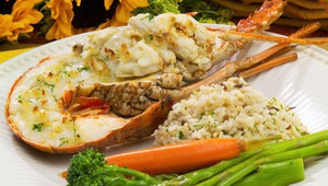 Crab-Stuffed Florida Lobster