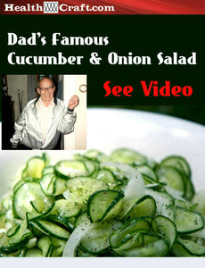 Dad's Famous Cucumber and Onion Salad