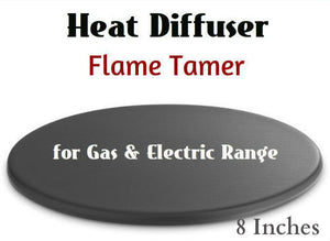 8in Heat Diffuser Flame Tamer prevents overheating handles