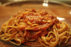 RED CLAM SAUCE with LINGUINI