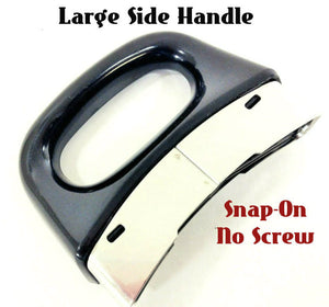 Black Silver Classic LARGE Side Handle - Snap-On no screw - Fits LS  4½  6  8qt