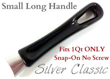 Load image into Gallery viewer, BLACK Silver Classic SMALL Long Handle 1qt Only - Snap-on No Screw
