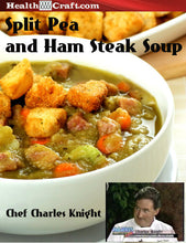Load image into Gallery viewer, Split Pea and Ham Steak Soup with homemade deep fried Croutons