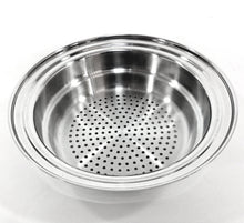 Load image into Gallery viewer, 2qt 3-Tier Surgical Stainless Steel STEAMER STRAINERS fits 1½ 2qt 2½qt 3qt 3½qt 4qt 6½qt