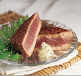 SPICY TUNA STEAKS with Chardonay Ginger Glaze see video