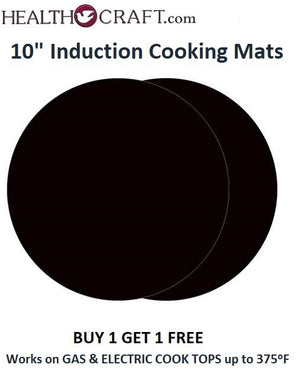 BUY 1 GET 1 FREE 10-in INDUCTION COOKING MAT keep your cooktop surface clean. For a NON-STICK Surface in the PAN.