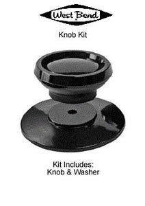 West Bend TOP KNOB and DISC w/flame guard and screw for Future Craft, Permanent, and EKCO waterless cookware.