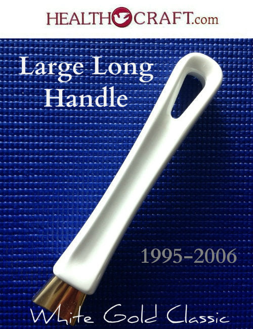 White Gold Classic Large LONG HANDLE w/flameguard for Saute/Fry Pans