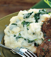 Parmesan Mashed Potatoes with Spinach