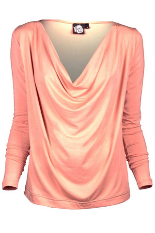Queenie Top - Peach
