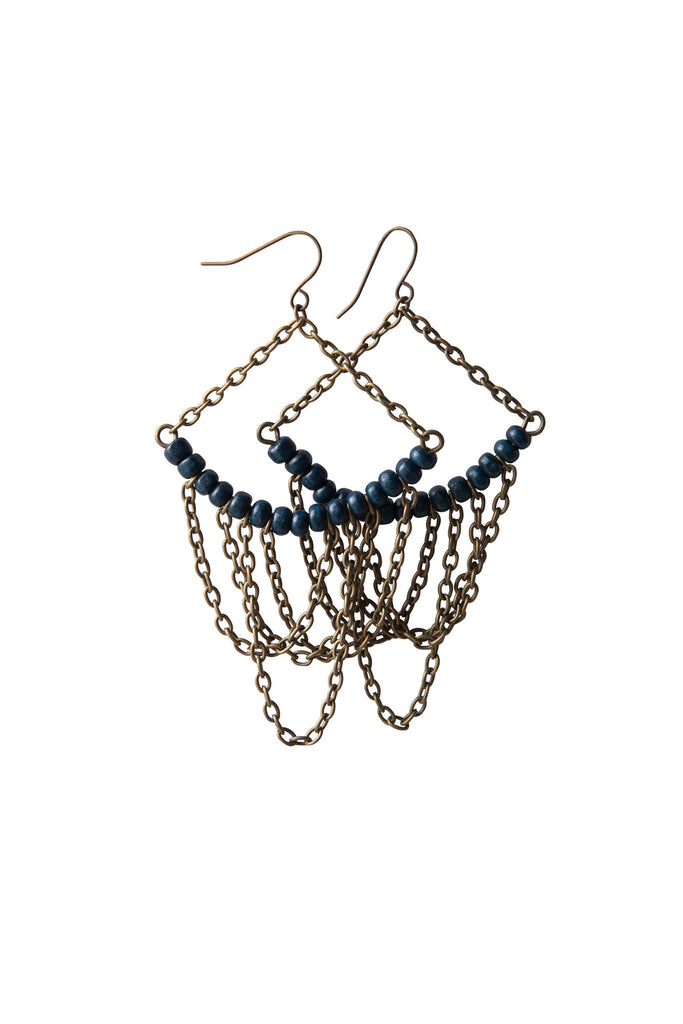 Adriana Earrings - Navy