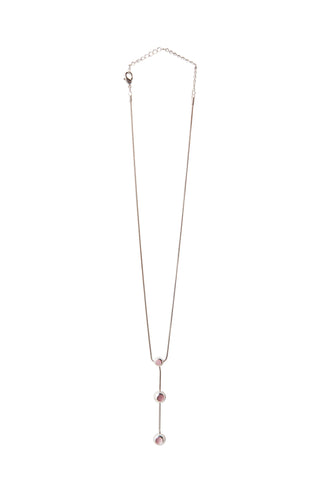 Pink & Silver Drop Necklace