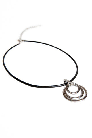 Circles Necklace - Black