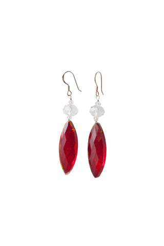 Barbara Earrings - Red