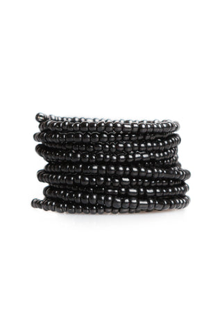 Shimmer Wrap Bangle - Black