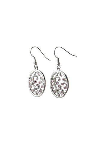 Pink Filigree Earrings