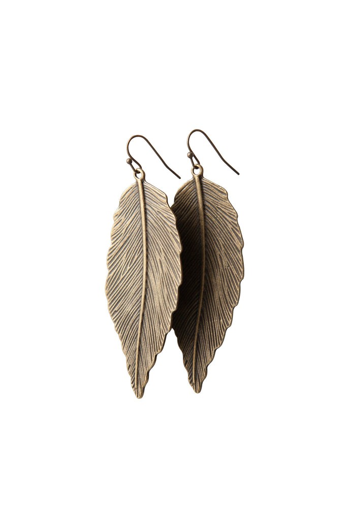 Inspire Earrings - Antique Bronze