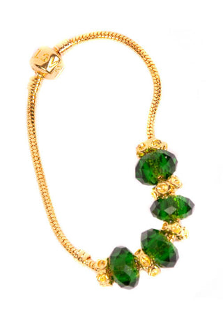 Stop the Traffick! Bracelet - Gold Emerald