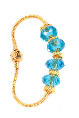 Stop the Traffick! Bracelet - Gold Aqua