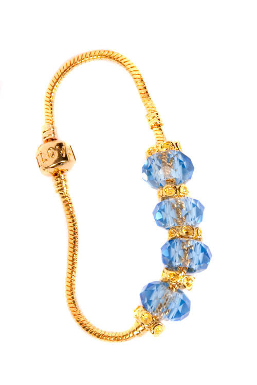 Stop the Traffick! Bracelet - Gold Light Blue
