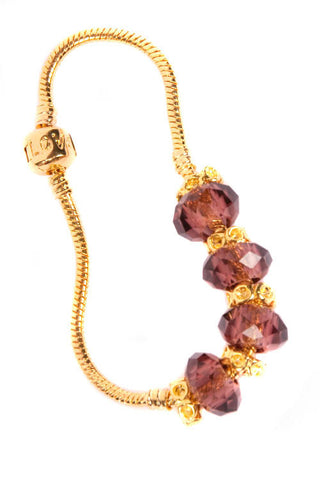 Stop the Traffick! Bracelet - Gold Maroon