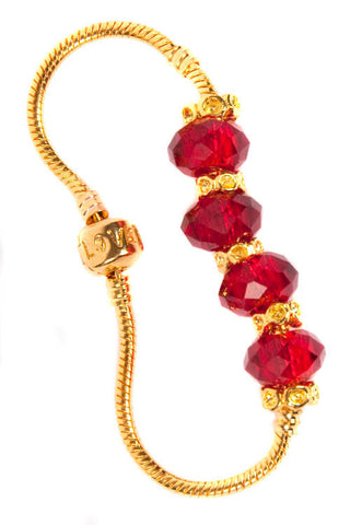 Stop the Traffick! Bracelet - Gold Red