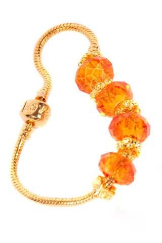 Stop the Traffick! Bracelet - Gold Orange