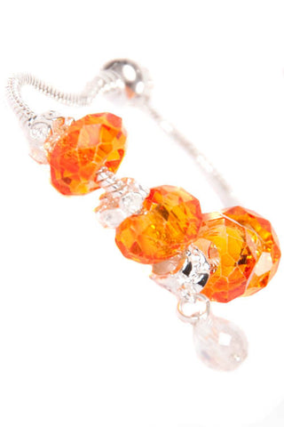 Stop the Traffick! Bracelet - Silver Orange