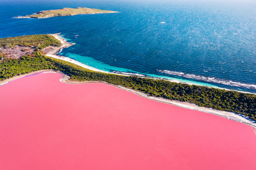 Lake Hillier, Middle Island, amazing pink lake