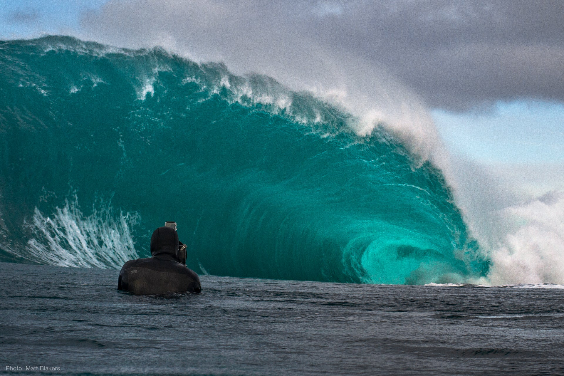 Phil Thurston Photographing in the ocean with Aquatech