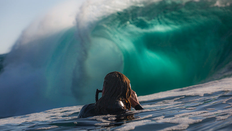 Philip Thurston shooting wave photos in the ocean