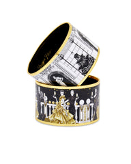 Enamel Bangle - Black Tie Soiree