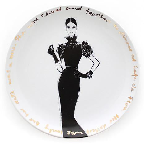 Couture Show  Plate - she wore Chanel