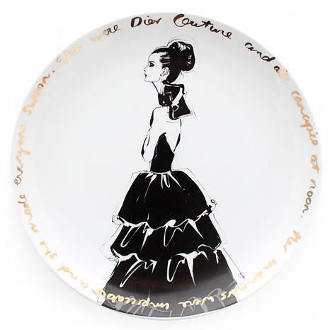 Couture Show  Plate - she wore Dior
