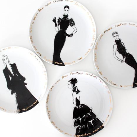 Couture Show Plates - set of four