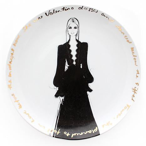 Couture Show  Plate - she wore Valentino
