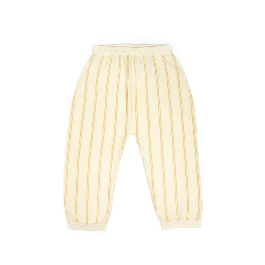 KNIT PLANET Cream WIDE LEG TROUSERS