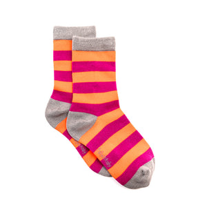 Polly & Andy Bamboo Pink & Purple (Seamless toe) Super Soft Socks