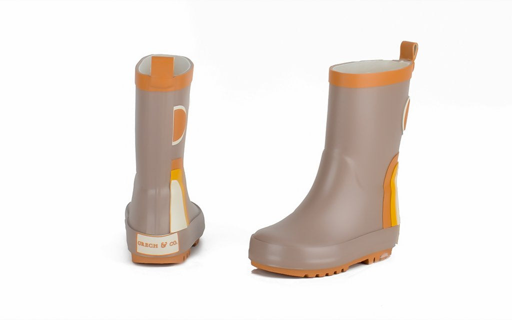 CHILDREN'S RUBBER BOOTS - RAINBOW - STONE