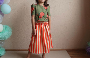 One Day Parade Striped Long Skirt