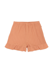 Ammehoela coral striped short with ruffle AM.Esmee.03