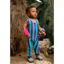Load image into Gallery viewer, Raspberry Republic Stripetastic Dungarees