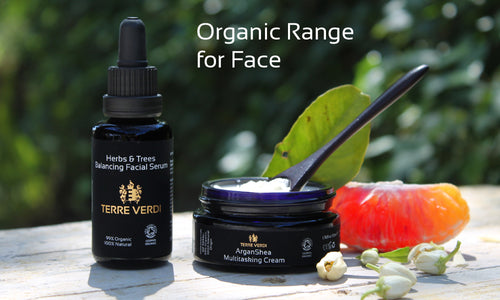 certified organic skincare range for face, unisex, made in UK