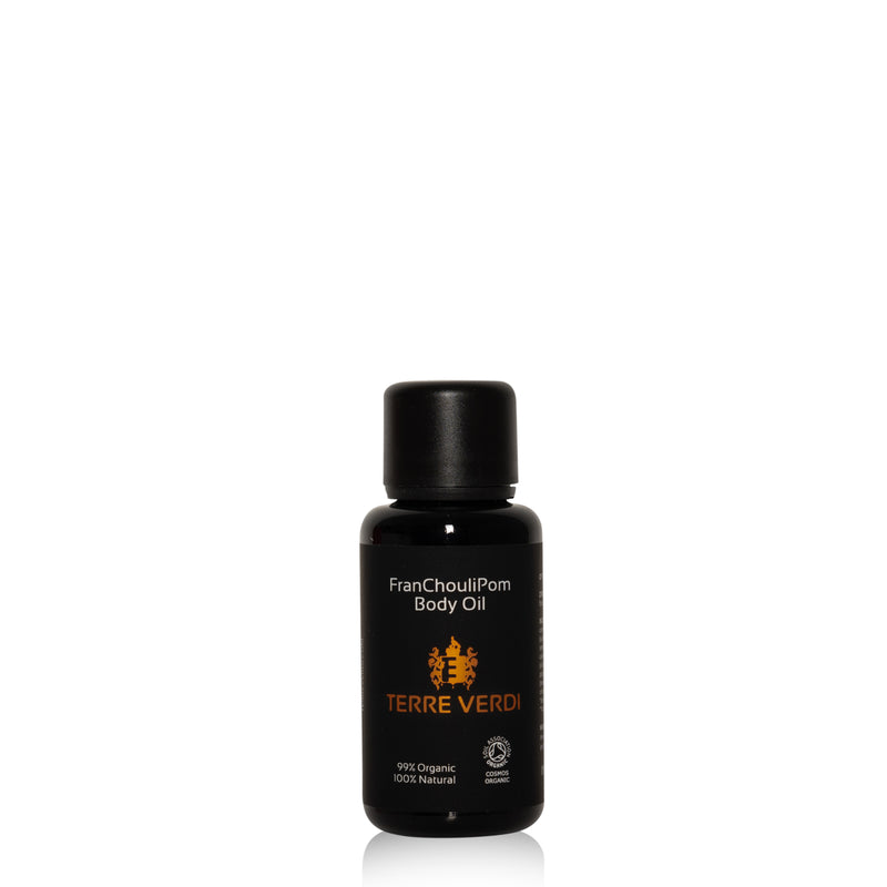 Certified Organic FranChouliPom Body Oil 30ml by Terre Verdi