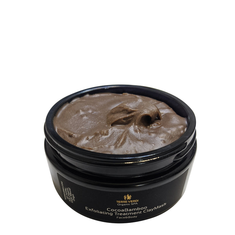 Totally Natural Skincare CocoaBamboo Exfoliating Treatment ClayMask 200ml by Terre Verdi