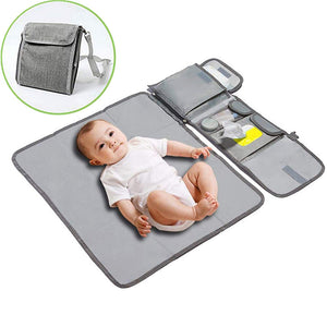 Multifunctional baby folding diaper pad