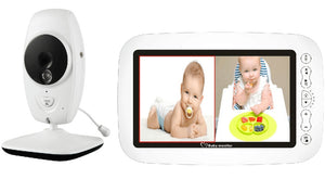 7 Inch Wireless Baby Monitor 720P HD Screen with Lullaby - Mommies Care.