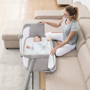 Mommies Care Folding Travel Sleeper and Bedside Cot Cradle - Mommies Care.